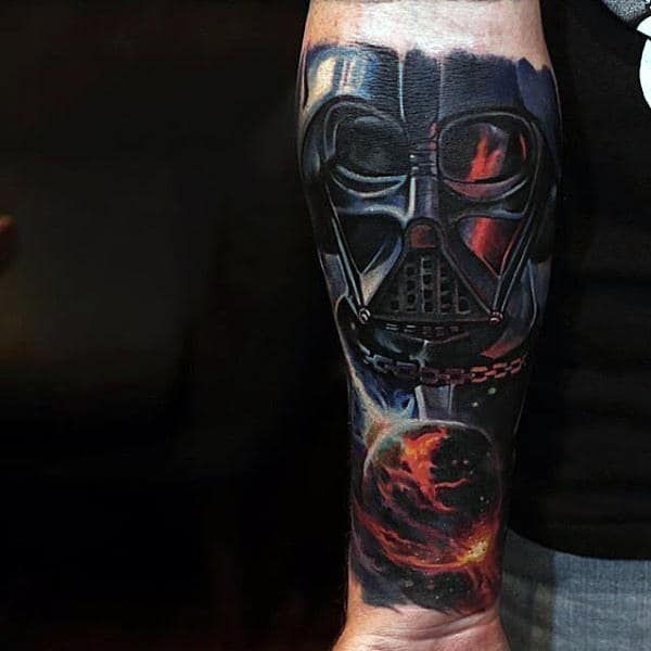 Universe Darth Vader Tattoo Guys Arms