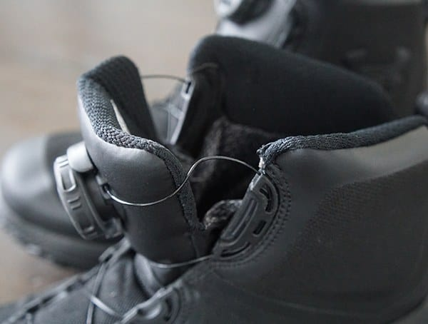 Unlacing The Boa System Under Armour Fat Tire Gore Tex Mens Boots
