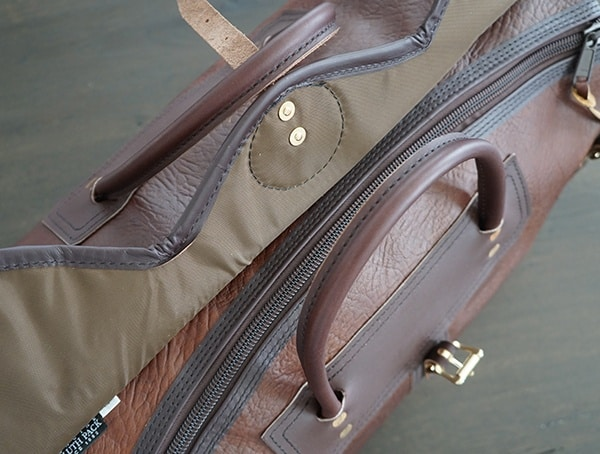 Unlatched Top Duluth Pack Bison Leather Sportsman Duffel