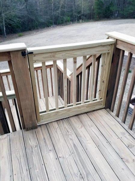 Unstained Wood Backyard Ideas Deck Gate