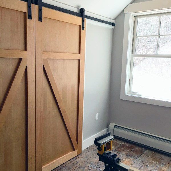 Unstained Wood Barn Door Ideas Inspiration