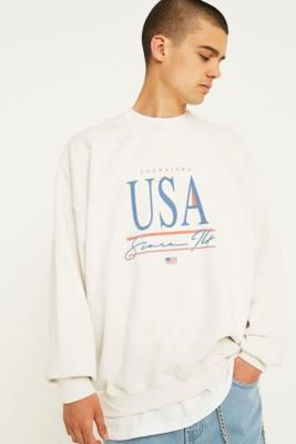 uo usa cream sweatshirt