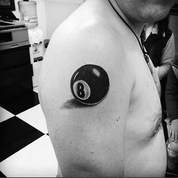 Upper Arm 8 Ball Male Tattoos