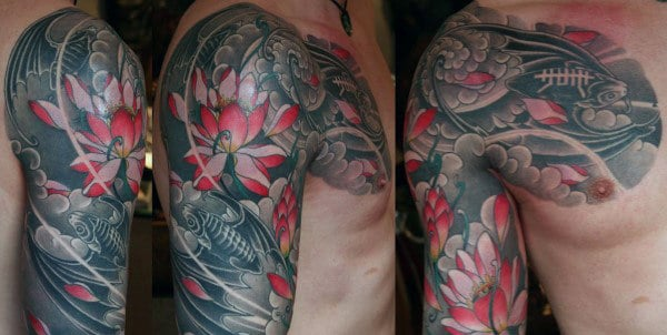 Upper Arm Bat Sleeve Tattoo For Men