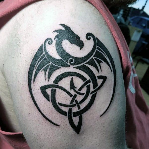 60 Simple Dragon Tattoos For Men