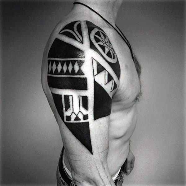 Upper Arm Cool Tribal Tattoos For Men Arm