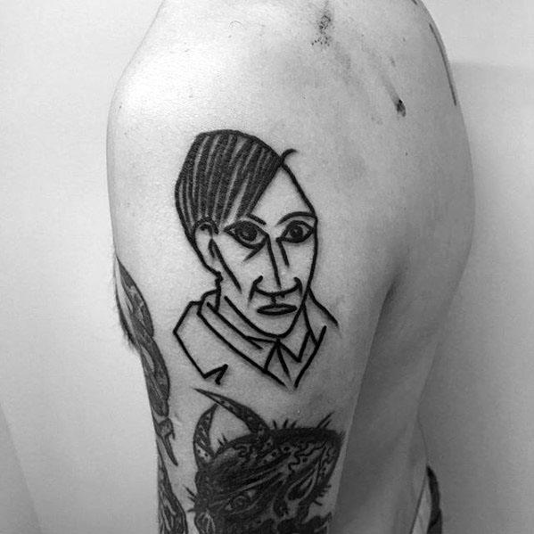 Upper Arm Guys Pablo Picasso Tattoo