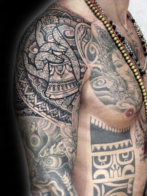 60 Blast Over Tattoo Designs For Men Cover Up Ink Ideas