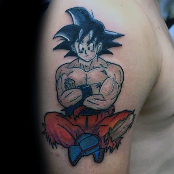 Upper Arm Male Cool Anime Tattoo Ideas