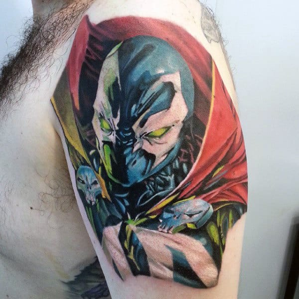More Than 60 Best Tattoo Designs For Men In 2015: 40 Spawn Tattoo Designs For Men