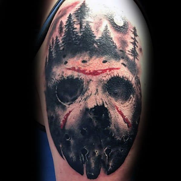 Friday 13th Tattoo Ideas: 60 Jason Mask Tattoo Designs For Men