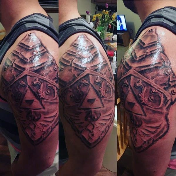 Upper Arm Shaded Guys Triforce Zelda Tattoo Designs