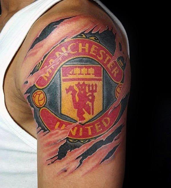Designs Ideas 40 For - Manchester Tattoo Men Soccer United