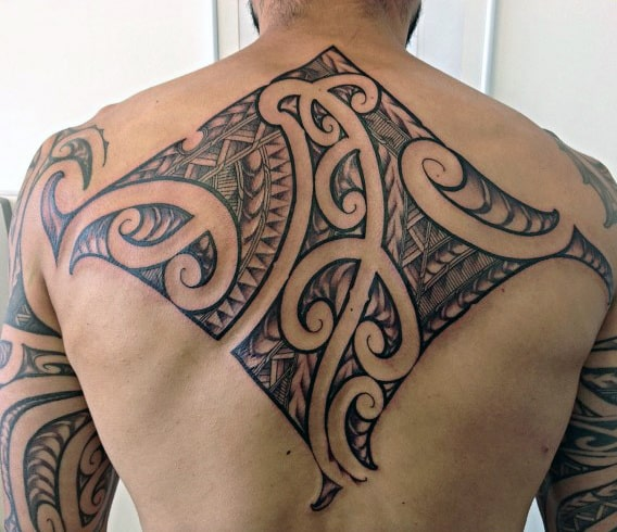 Upper Back Cool Tribal Tattoos For Guys