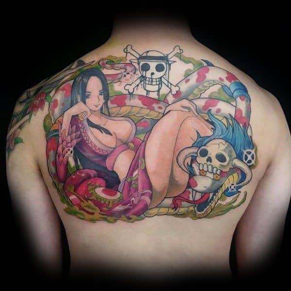Upper Back One Piece Anime Guys Tattoo Ideas