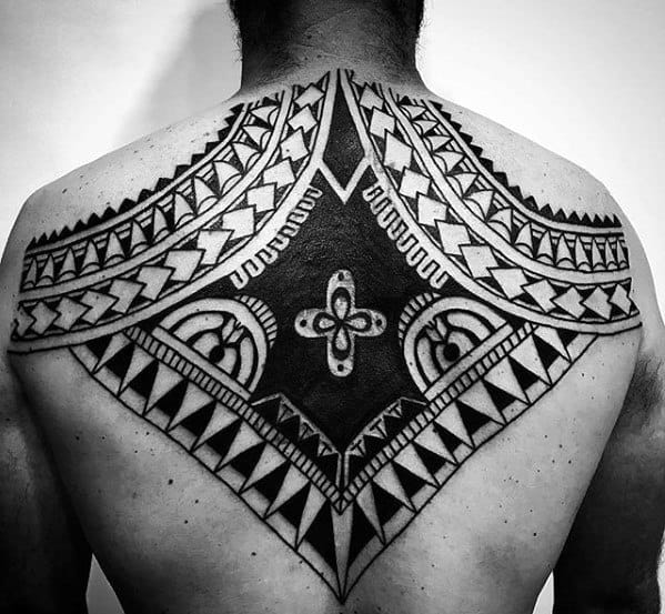 Upper Back Remarkable Badass Tribal Tattoos For Males