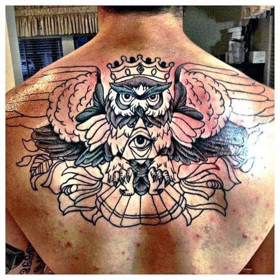 Upper Back Tattoo Ideas For Men