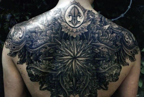 Upper Back Tattoo Men