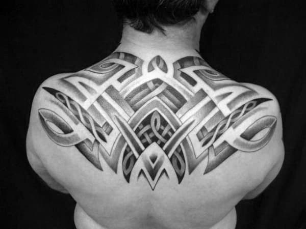 Upper Back Tattoos For Men Tribal