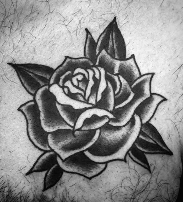 80 black rose tattoo designs for men dark ink ideas upper chest black rose male traditional tattoos mightylinksfo Image collections
