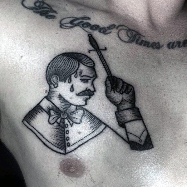 Upper Chest Circus Guys Tattoo Ideas