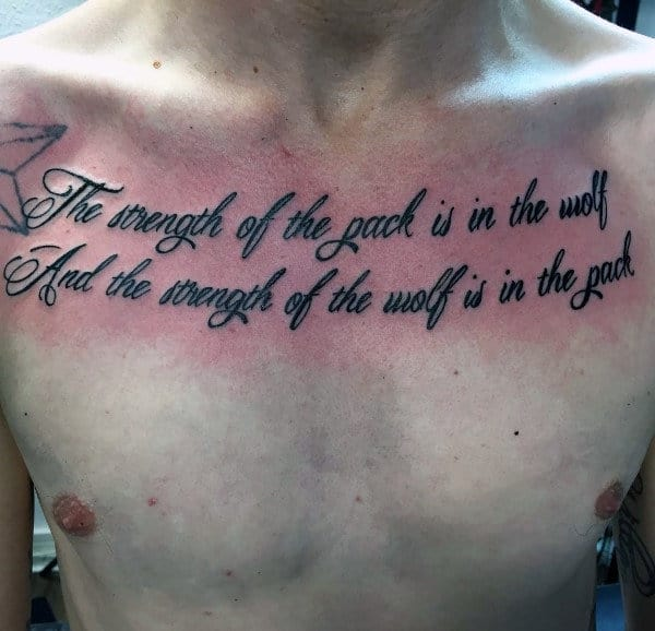 90 Script Tattoos For Men