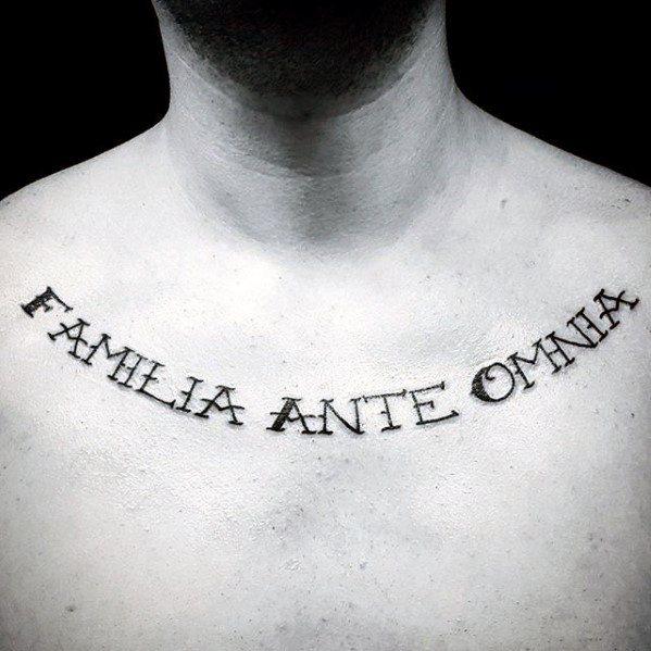 60 Latin Tattoos For Men Ancient Rome Language Design Ideas