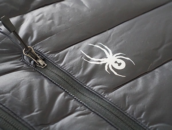 Upper Chest Pocket Closed With Spyder Logo Badge Mens Syrround Down Jacket