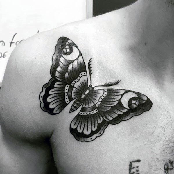 50 Traditional Moth Tattoo Designs For Men Nocturnal Insect Ink