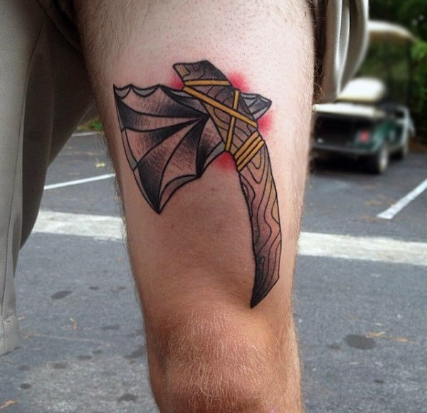 70 Thigh Tattoos For Men: 70 Tomahawk Tattoo Designs For Men