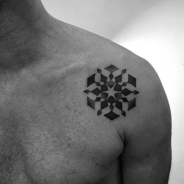 50 small geometric tattoos for men manly shape ink ideas for Small shoulder tattoo