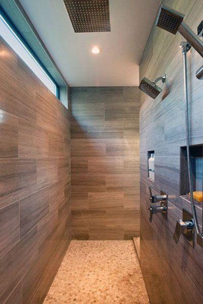 Upper Wall Linear Shower Window Ideas