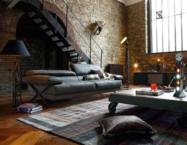 Urban Loft Living Room Bachelor Pad
