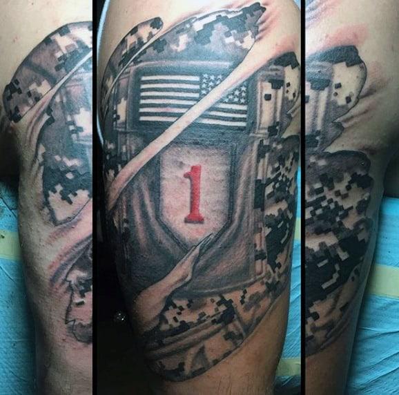 US Army Tattoos Men