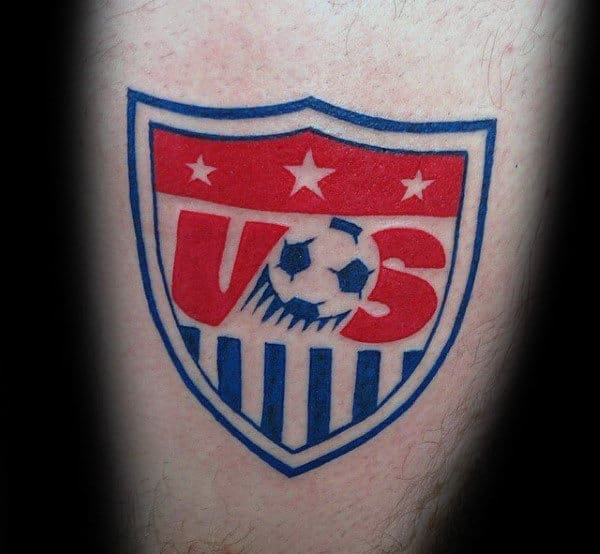 Us Soccer Logo Mens Tattoo