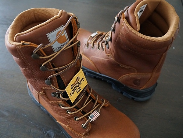 Usa Made Carhartt Mens Waterproof 8 Inch Composite Toe Work Leather Boots