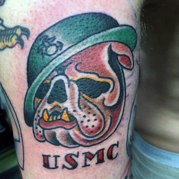 Usmc Marine Bull Dog Guys Small Arm Tattoo