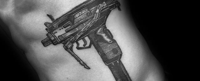 Uzi Tattoo Ideas For Men