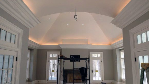Valuted Ceiling Kitchen Crown Molding Lighting Ideas Inspiration