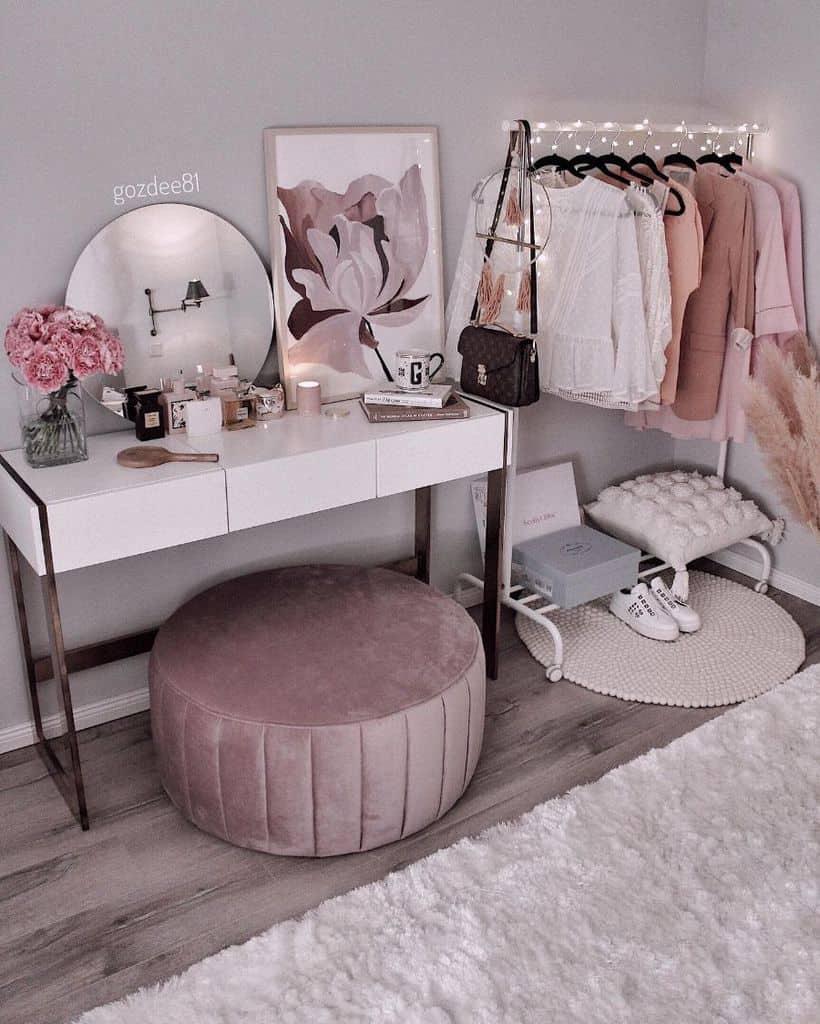 vanity and desk bedroom organization ideas gozdee81