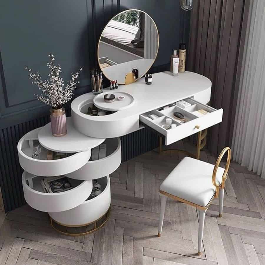 vanity and desk bedroom organization ideas thehillyardhome