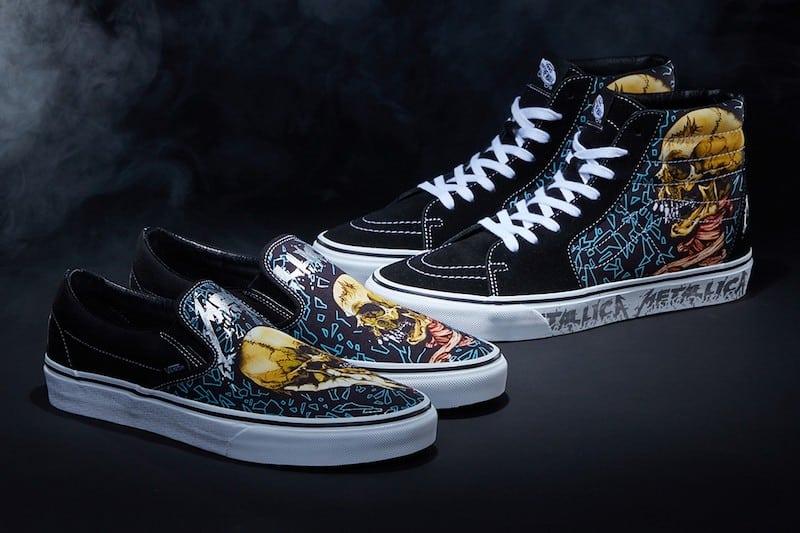 Metallica Team With Vans for 'Black Album' Commemorative Sneakers