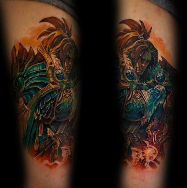 Varian Wrynn World Of Warcraft Tattoo Designs For Men