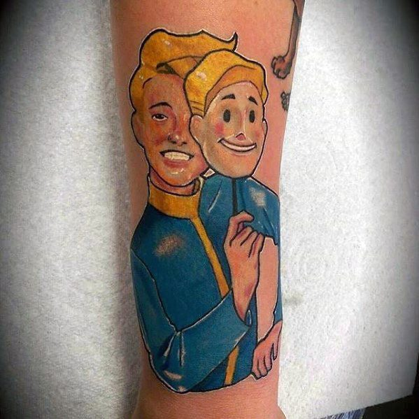 Vault Boy Fallout Tattoo Ideas For Males