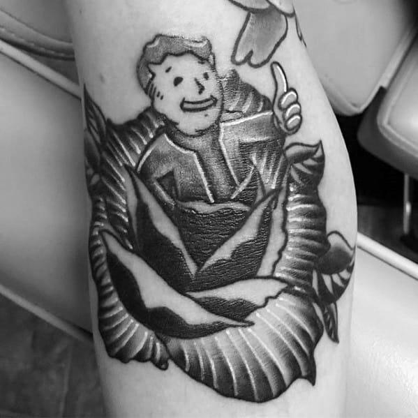 Vault Boy Male Tattoo Designs