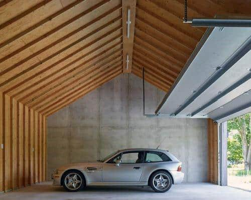 Vaulted Wood Garage Ceiling Ideas