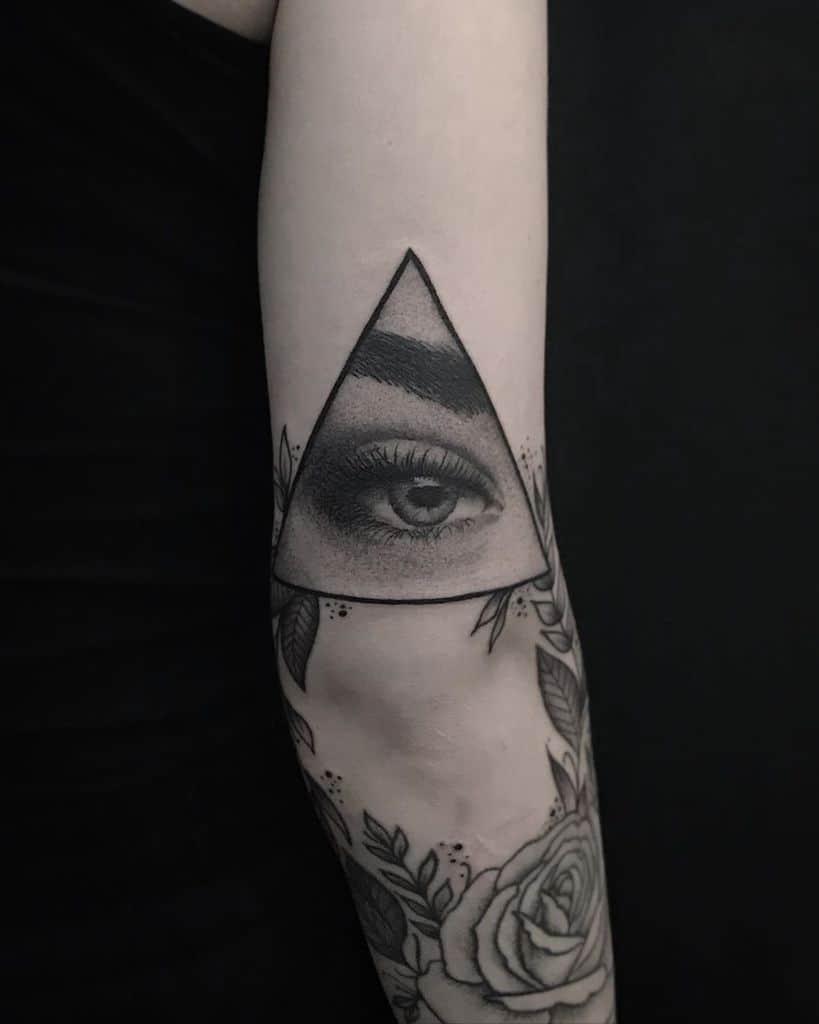 Vegan Black Work Eye Tattoo