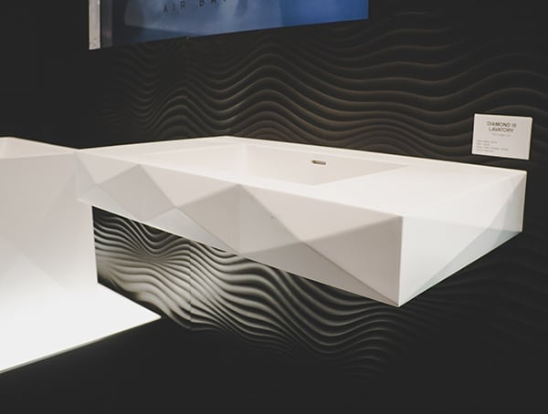 Vegas Nahb Show 2019 Modern White Geometric Sink