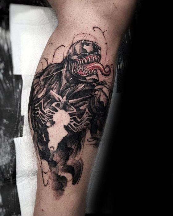 Venom Carnage Tattoo: 60 Venom Tattoo Designs For Men