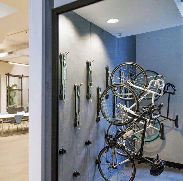 Vertical Wall Hanger Bicycle Storage Indoor Ideas